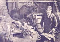 Joe Wilhelm, blacksmith