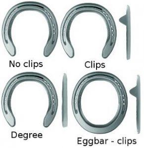 Aluminum Triumph horseshoes