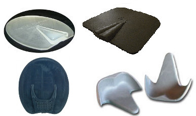 Frog support pads for horses