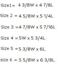 Nanric Steel Rocker horseshoe size chart