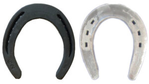 Toe weighted horseshoes
